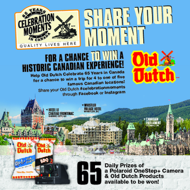 SHARE YOUR MOMENT FOR A CHANCE AT A HISTORIC CANADIAN EXPERIENCE!