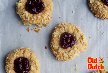 Peanut Butter & Jelly Potato Chip Thumbprint Cookies