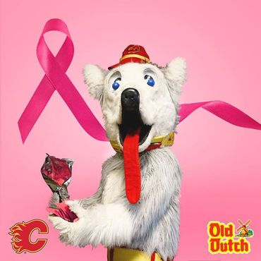 Old Dutch and the Calgary Flames have teamed up to raise awareness of breast...