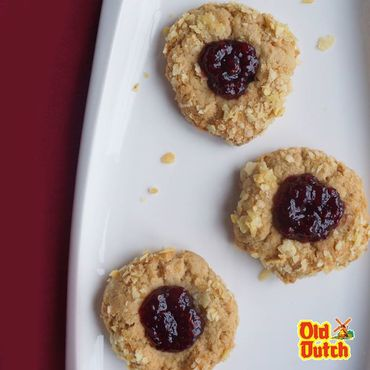 Old Dutch Peanut Butter & Jelly Potato Chip Thumbprint Cookies Ingredients:...