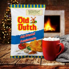 Baby, it's cold outside. ❄️ Snuggle up by the fire with a bag of Old Dutch.