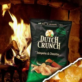 Don't have a crackling fireplace? Jalapeno Cheddar Dutch Crunch chips are the...