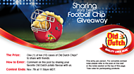 Sharing Starts Here Football Chip Giveaway